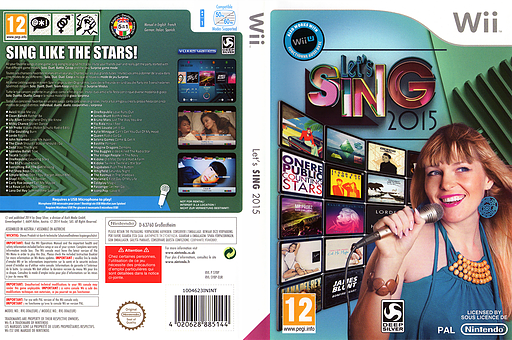 Let's Sing 2015 Wii cover (SY8PKM)