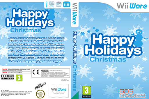 Happy Holidays: Christmas WiiWare cover (W9RP)