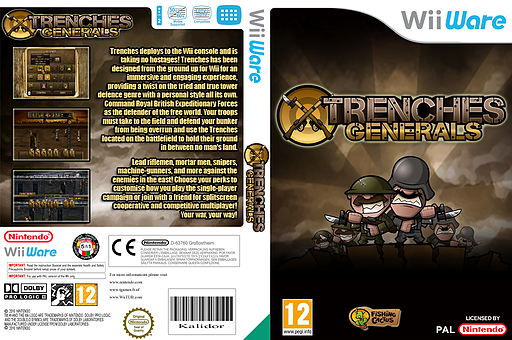 Trenches: Generals WiiWare cover (WAHP)