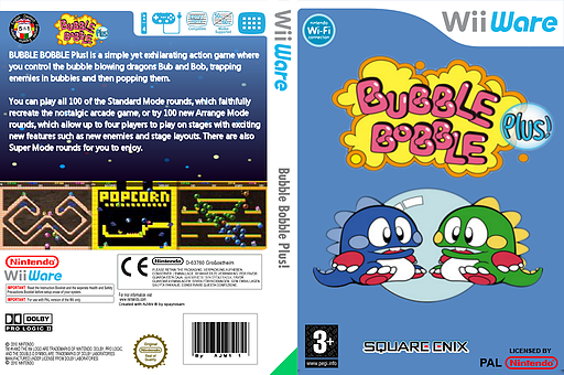 Bubble Bobble Plus! WiiWare cover (WBLP)