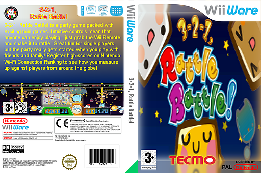3-2-1, Rattle Battle! WiiWare cover (WCUP)
