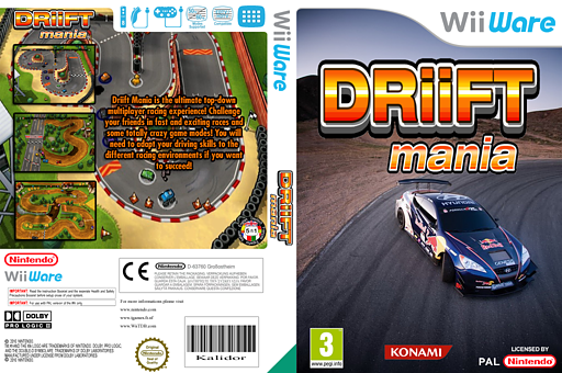 Driift Mania WiiWare cover (WDOP)