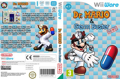 Dr. Mario & Germ Buster (Friend Battle Demo) WiiWare cover (WDPP)