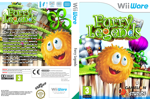Furry Legends WiiWare cover (WFUP)