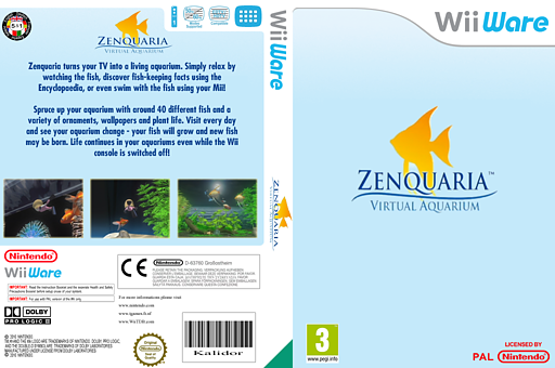 Zenquaria: Virtual Aquarium WiiWare cover (WGPP)
