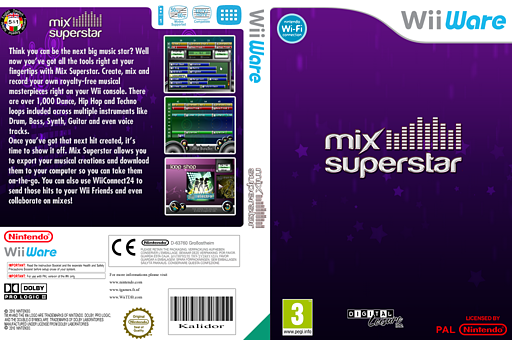 Mix Superstar WiiWare cover (WM4P)