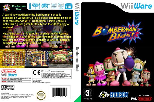 Bomberman Blast WiiWare cover (WM8P)