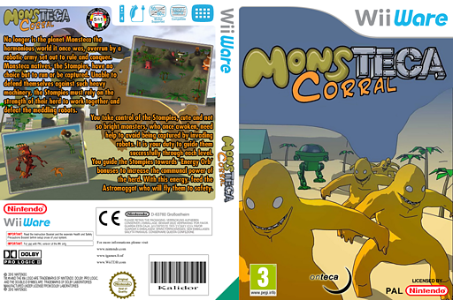 Monsteca Corral: Monsters Vs. Robots WiiWare cover (WMCP)