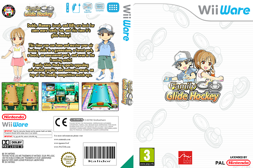 Family Glide Hockey WiiWare cover (WOAP)