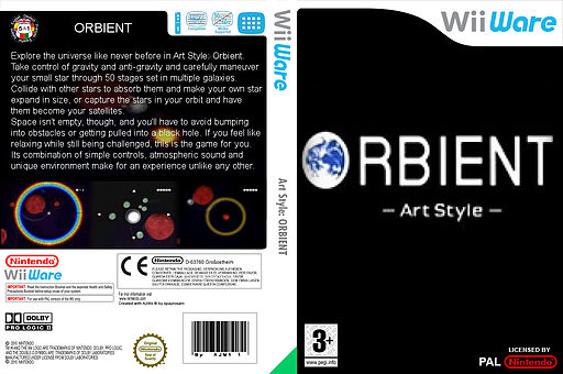 Art Style: ORBIENT WiiWare cover (WOBP)