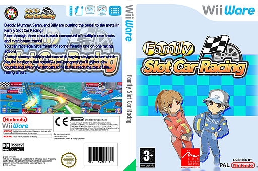 Family Slot Car Racing WiiWare cover (WOSP)