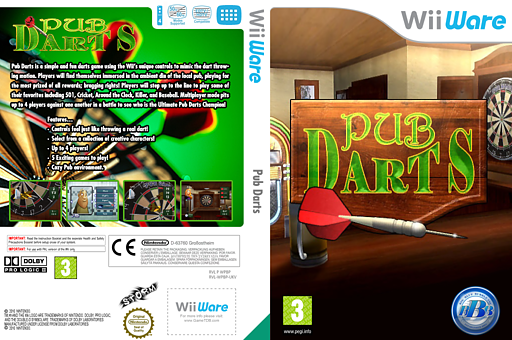 Pub Darts WiiWare cover (WPBP)