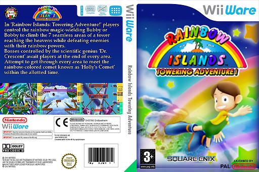 Rainbow Islands: Towering Adventure! WiiWare cover (WRIP)