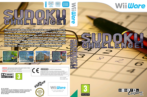 Sudoku Challenge! WiiWare cover (WS9P)