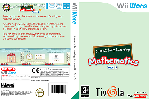 Successfully Learning Mathematics Year 5 WiiWare cover (WU4P)