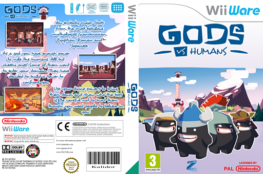 Gods Vs Humans WiiWare cover (WVSP)