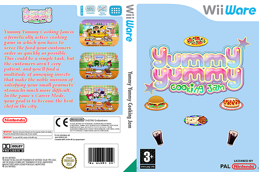Yummy Yummy Cooking Jam WiiWare cover (WYMP)