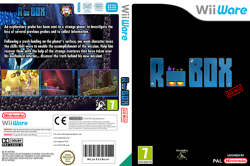 Robox (Demo) WiiWare cover (XH6P)