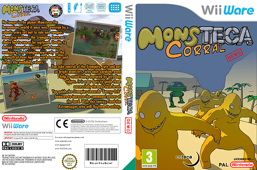 Monsteca Corral Demo WiiWare cover (XIKP)
