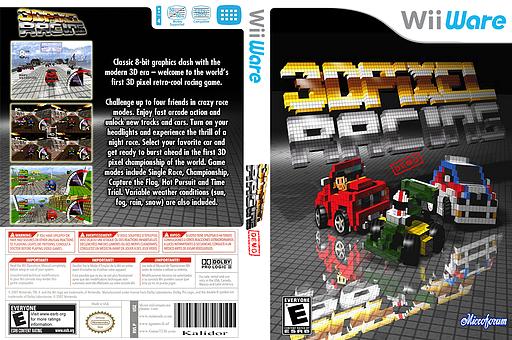 3D Pixel Racing Demo WiiWare cover (XIZP)