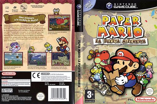 Paper Mario: La Puerta Milenaria GameCube cover (G8MP01)