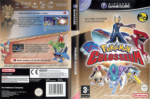 Pokémon Colosseum GameCube cover (GC6P01)