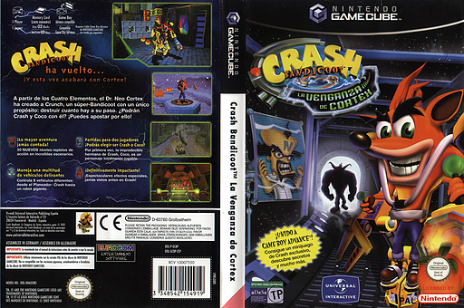 Crash Bandicoot: La Venganza de Cortex GameCube cover (GCBP7D)