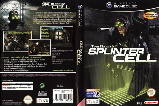 Tom Clancy's Splinter Cell GameCube cover (GCEP41)