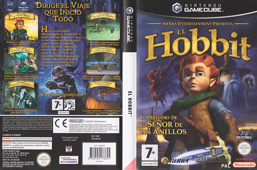 El Hobbit GameCube cover (GHBP7D)
