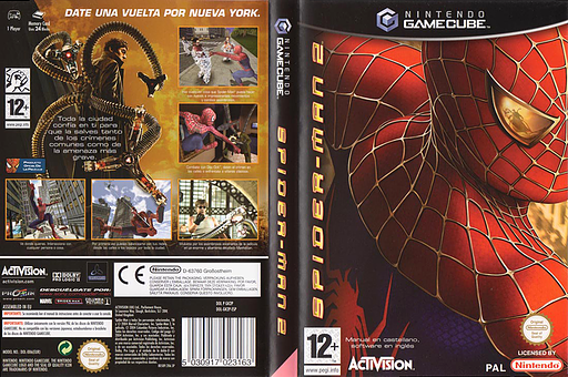 Spider-Man 2 GameCube cover (GK2P52)