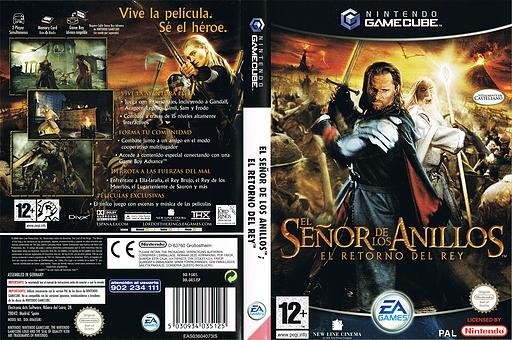 El Señor de los Anillos: El Retorno del Rey GameCube cover (GKLS69)