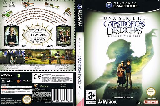 Una serie de Catastróficas Desdichas de Lemony Snicket GameCube cover (GLCS52)