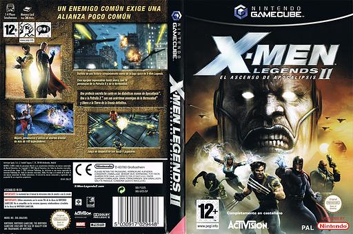 X-Men Legends II: El Ascenso de Apocalipsis GameCube cover (GX2S52)