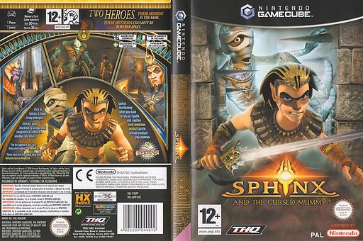 Sphinx y la maldita momia GameCube cover (GXPP78)