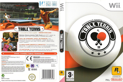 Rockstar Games Presenta Table Tennis Wii cover (RT3P54)