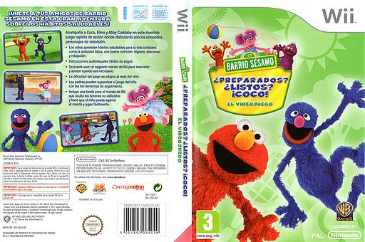 Barrio Sésamo ¿Preparados? ¿Listos? ¡Coco! Wii cover (SESPWR)