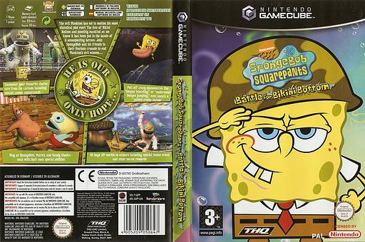 SpongeBob Squarepants:Battle For Bikini Bottom GameCube cover (GQPP78)