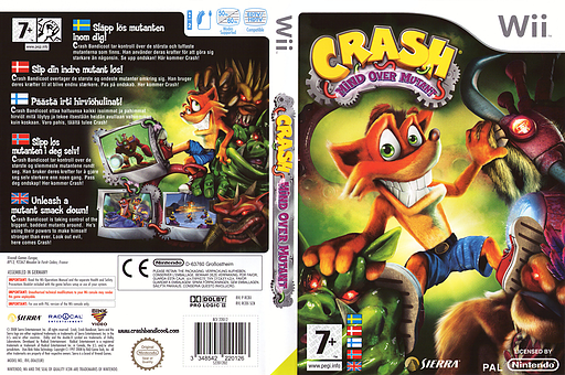Crash: Mind Over Mutant Wii cover (RC8X7D)