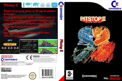 Pitstop II pochette VC-C64 (C9MP)