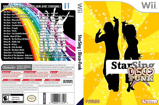 StarSing:Disco-Funk v1.0 pochette CUSTOM (CS8PZZ)