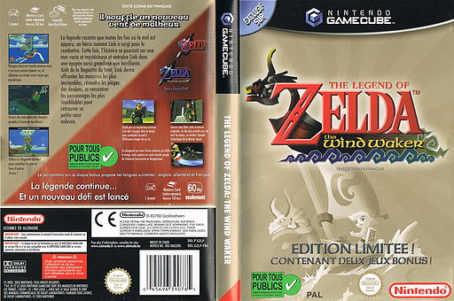 The Legend of Zelda: Ocarina of Time / Master Quest pochette GameCube (D43P01)