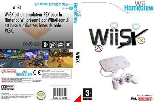 WiiSX pochette Homebrew (DWSA)