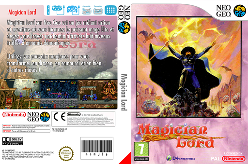 Magician Lord pochette VC-NEOGEO (EACP)