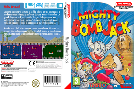 Mighty Bomb Jack pochette VC-NES (FBJP)