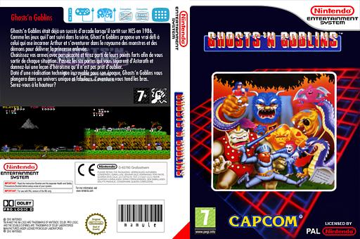 Ghosts'n Goblins pochette VC-NES (FDGP)