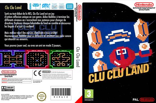 Clu Clu Land pochette VC-NES (FESP)