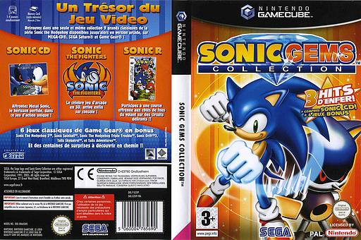 Sonic Gems Collection pochette GameCube (G2XP8P)