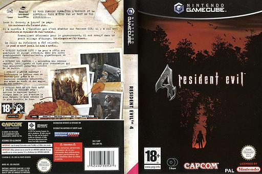 Resident Evil 4 pochette GameCube (G4BP08)