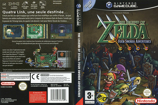The Legend of Zelda: Four Swords Adventures pochette GameCube (G4SP01)