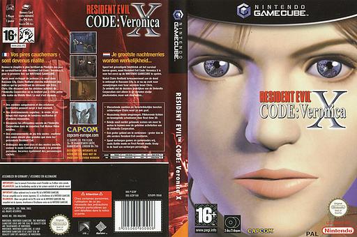 Resident Evil Code: Veronica X pochette GameCube (GCDP08)